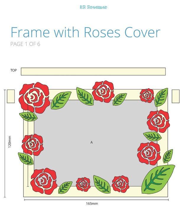 Blank_Frame_Rosespackgae_p1-la.jpg (633×756)   3d pen stencils, 3d pen, Cover pages