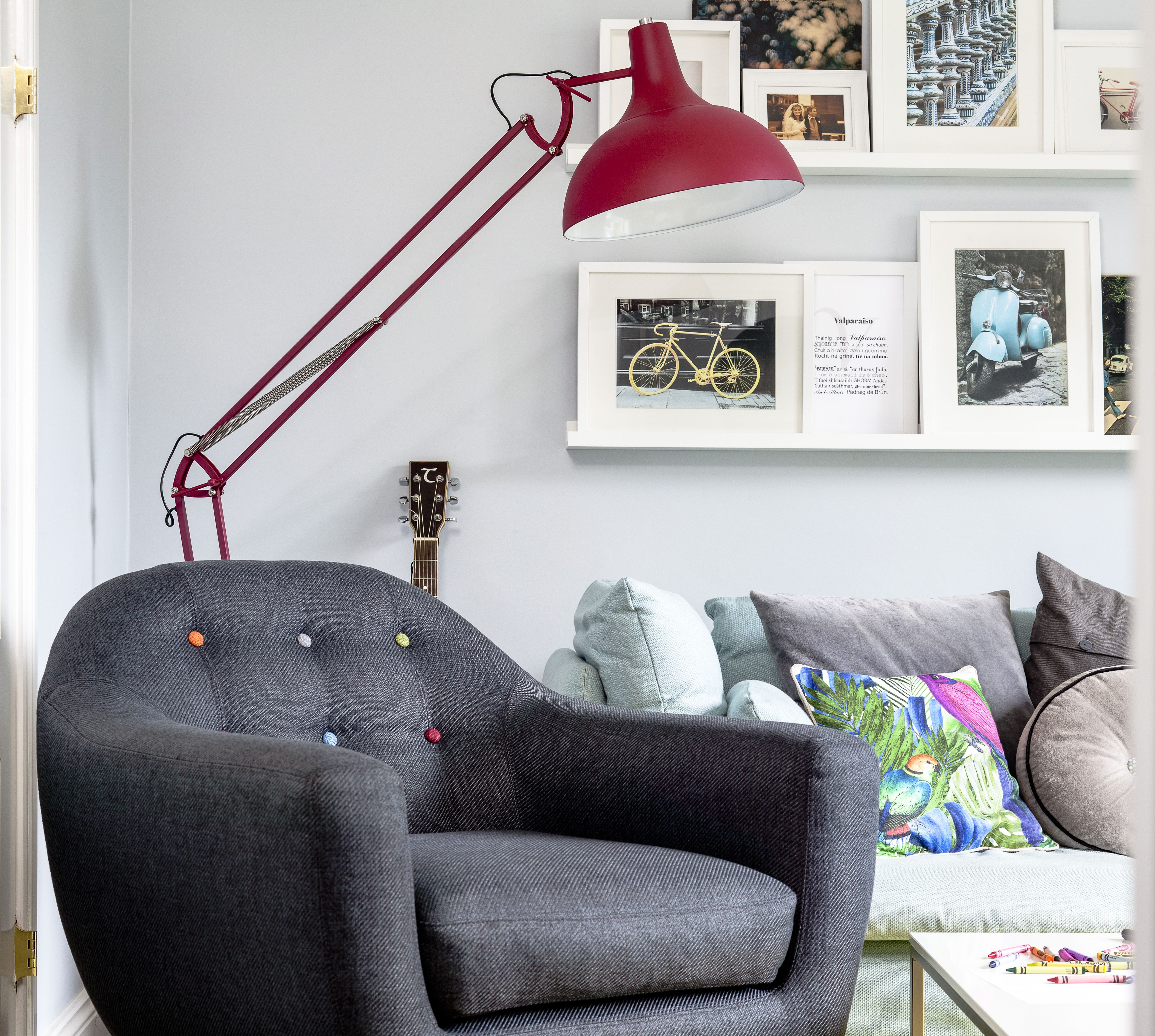 Paint Ideas For Living Room Ireland: Playful Living Room With Gallery Wall An Pops Of Colour By