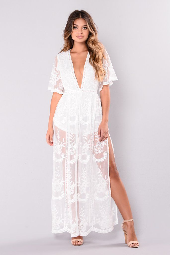 Set Our Love On Fire Dress   White