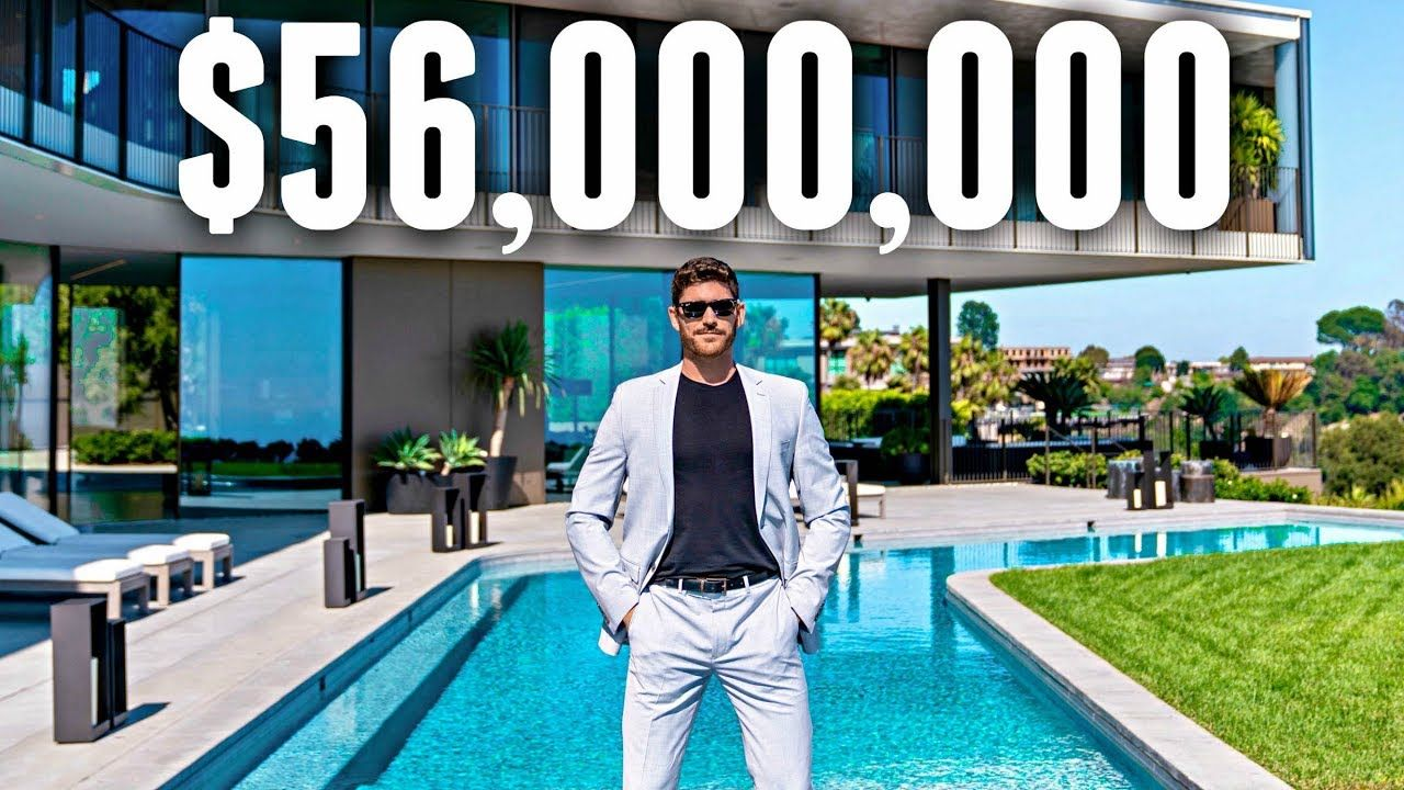INSIDE a 56 Million Bel Air MEGA MANSION YouTube (With