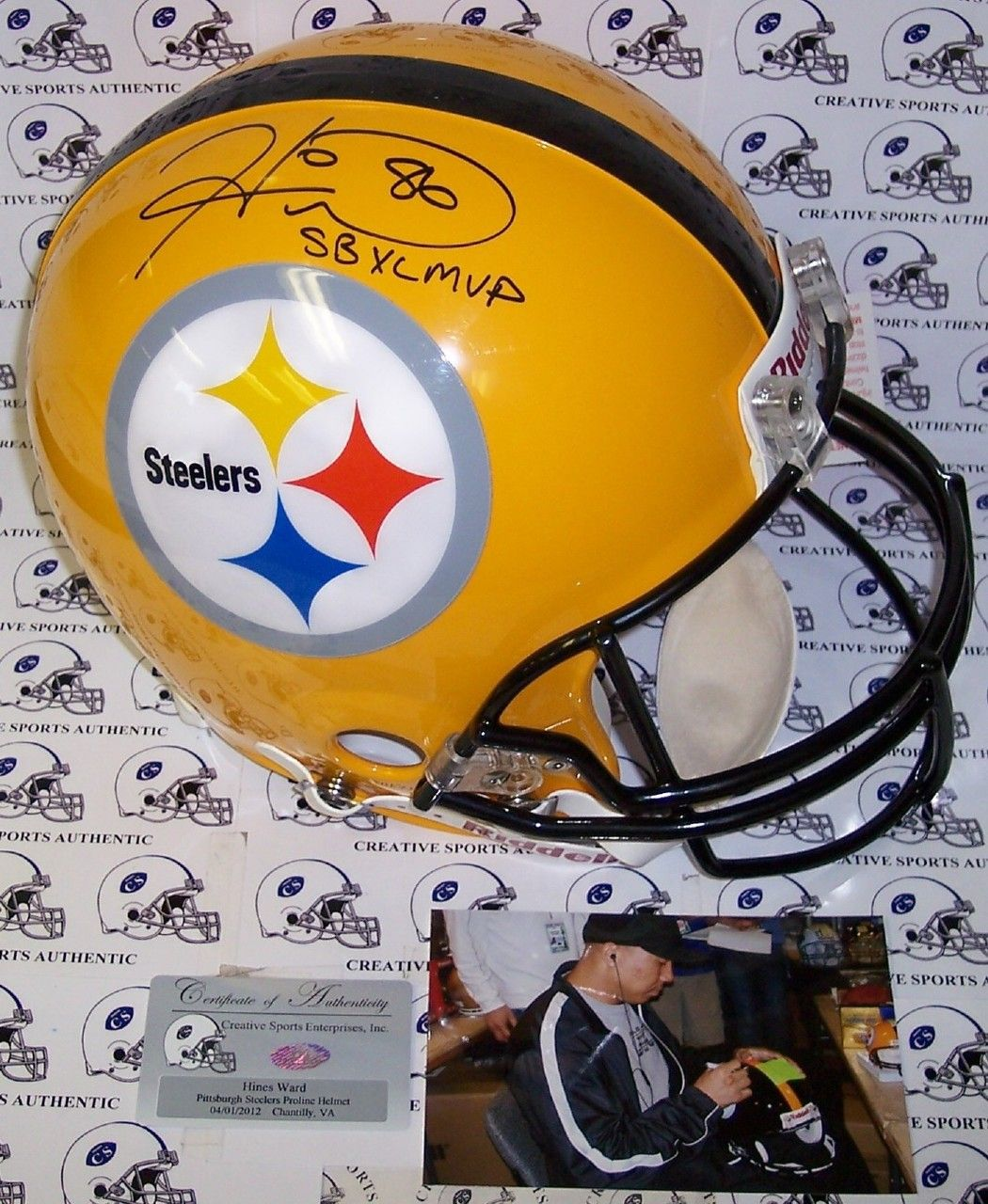 e36222a574f Hines Ward Autographed Hand Signed Pittsburgh Steelers Yellow Authentic  Helmet - PSA/DNA