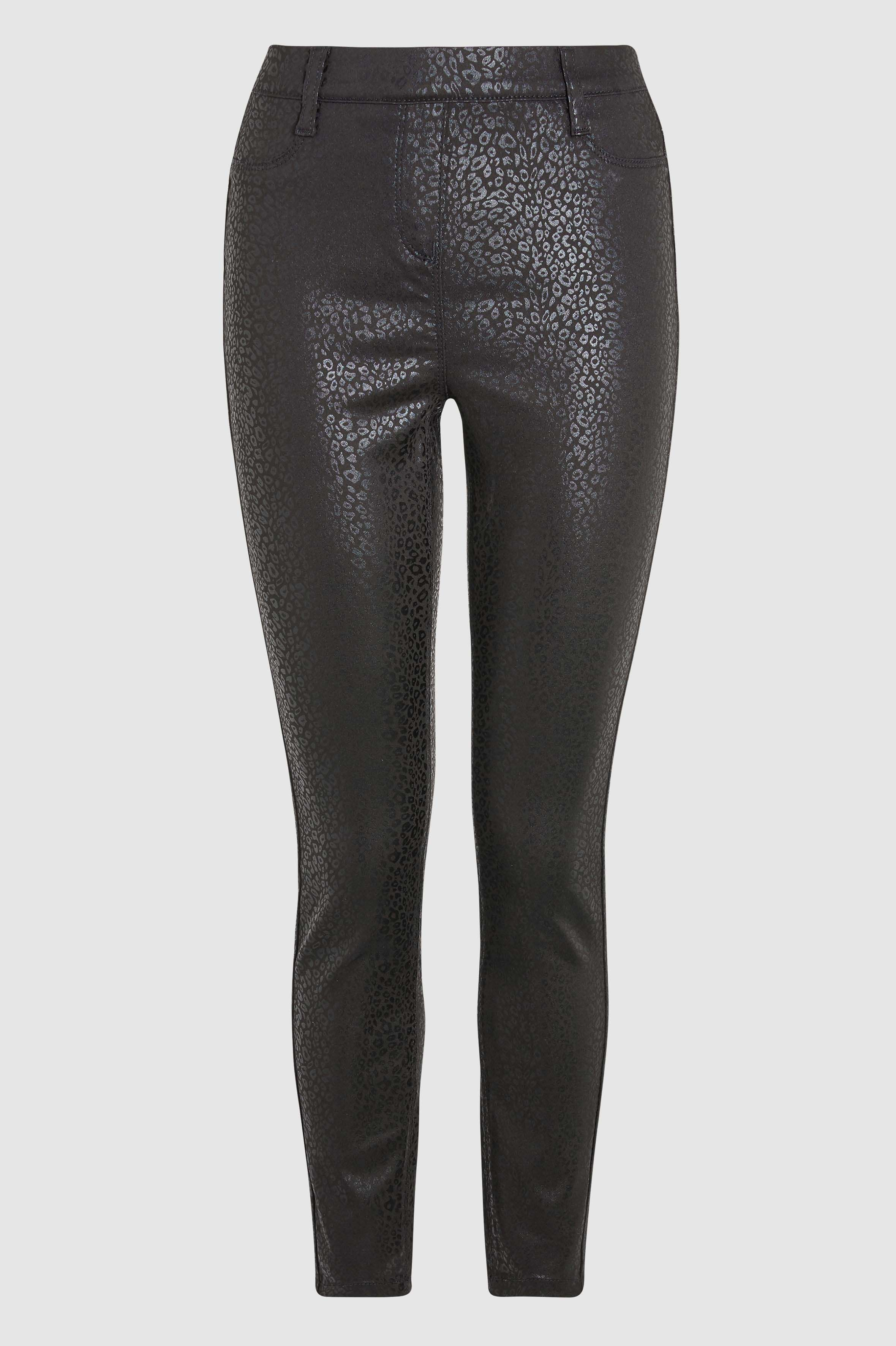 876dd03d09bf0c Womens Next Black Animal Pull-On Coated Leggings - Black   Products ...