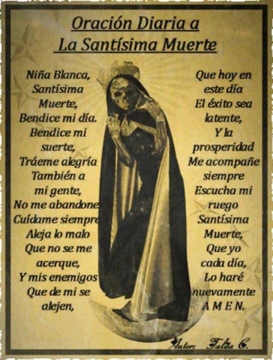 Pin De Connie Lazcano En La Santa Muerte Mi Nina Blanca Santa