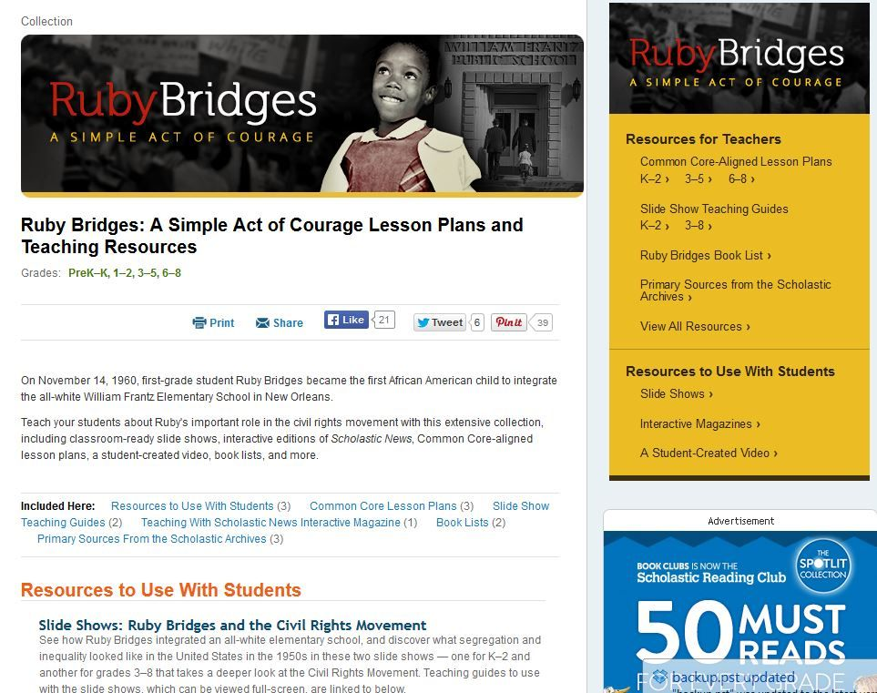 Ruby Bridges for First Graders Cross-Curricular Compassion When - copy free coloring pages for ruby bridges