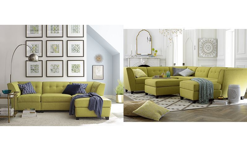 Harper Fabric 6 Piece Modular Sectional Sofa Flexsteel Power Reclining Julio Chaise Ottoman Custom Colors Sofas Furniture Macy S