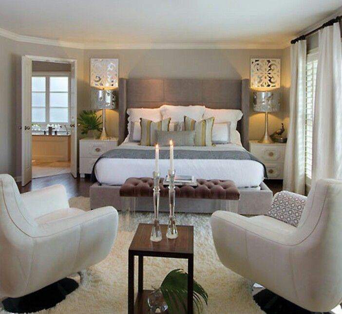 Luxurious and cosy bedroom.  My kind of style.