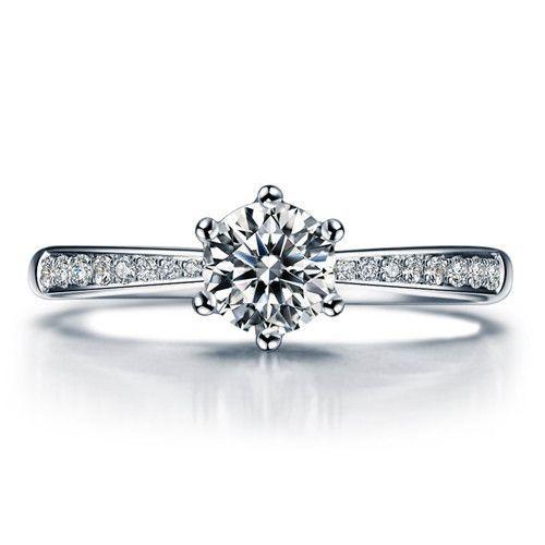 Zertifizierter Diamant Ring Weissgold Verlobungsring von Love Diamonds bei DaWanda … – Hochzeit – Ringe