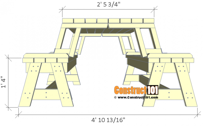 Folding Picnic Table Plans Easy To Build Projects Folding