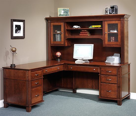 corner office desk hutch. Arlington Series L Shaped Desk With Hutch Top.. Corner Computer DesksOffice Office
