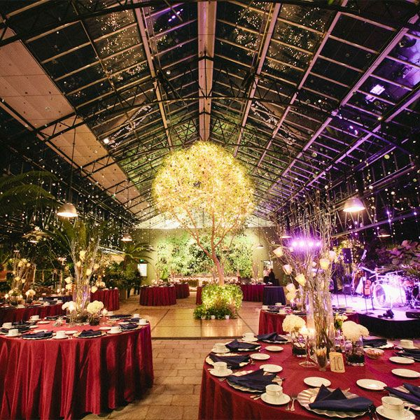 A Deep Purple And Red Color Palette Sets The Tone For This Botanical Garden Wedding Photo Credit Abby Rose Like Table Clothes Nnapkins