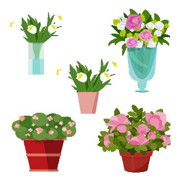 Flower Vase Collection Vector Flowers Vase Floral Png And Vector With Transparent Background For Free Download Flower Vases Flower Png Images Transparent Flowers