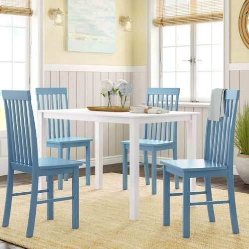 Endicott 5 Piece Dining Set In 2020 Dining Set Solid Wood