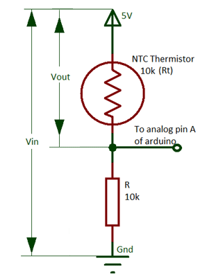 Voltage Divider Circuit By Thermistor And Resistor Electronic