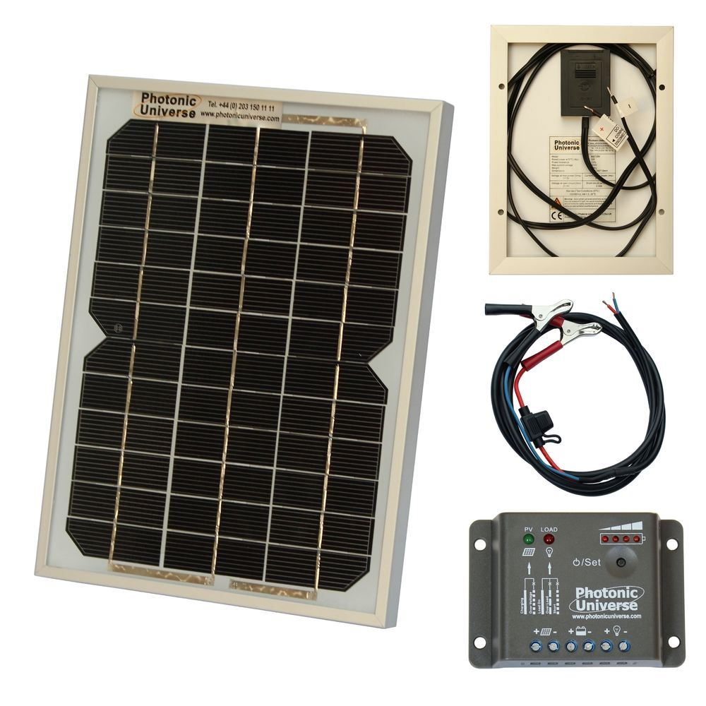 5w Solar Panel Kit Trickle Charger For 12v Battery Car Van Motorbike Boat Solar Panel Kits Solar Solar Panels