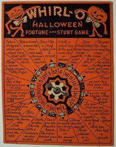 Vintage Halloween Fortune Stunt Game Vintage Halloween Vintage Halloween Decorations Black Cat Halloween