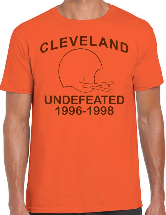 11b2d1eb72668d CLEVELAND UNDEFEATED 1996-1998 T-Shirt cle football browns vintage shirt