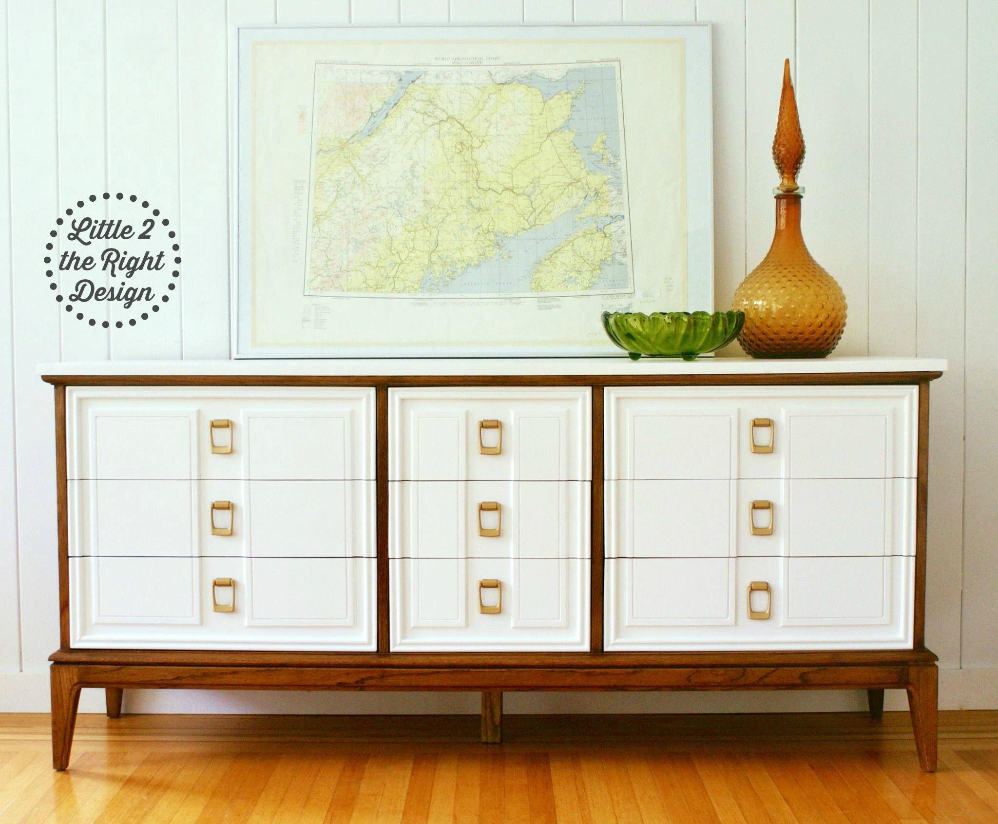 Best Dixie Mid Century Modern Mcm 9 Drawer Triple Dresser 640 x 480