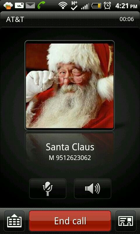 Call santa! It really works kids can leave a voice mail for him....