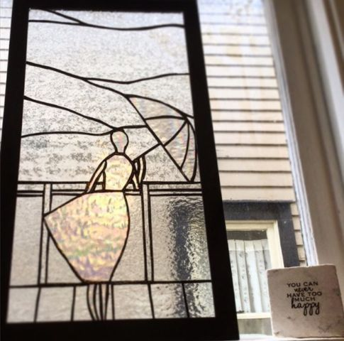 Beautiful Handmade Stained Glass Approx 24 X 14 Located Centrally In Calgary Ab Add Some Glass To Your Window Instead Of Curtains For Sun And Privacy Check