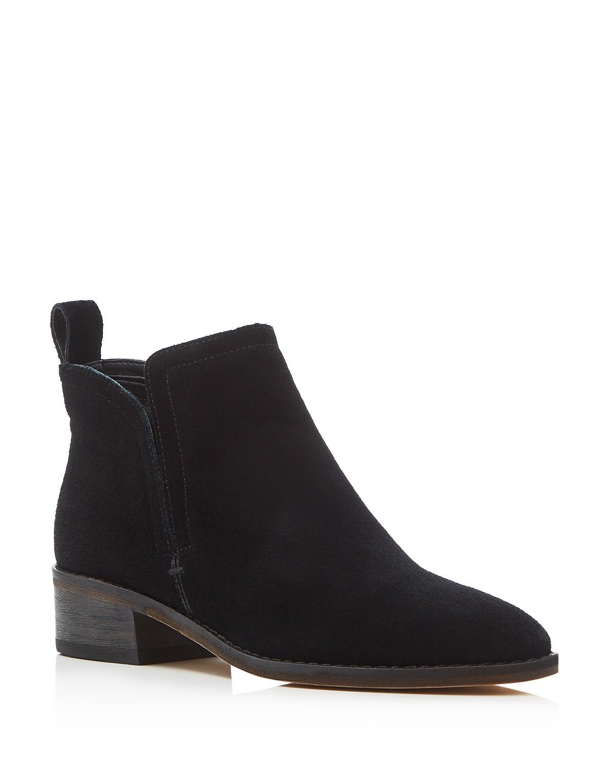These Slip-on Suede Booties Feel Laid-back And Lived-in