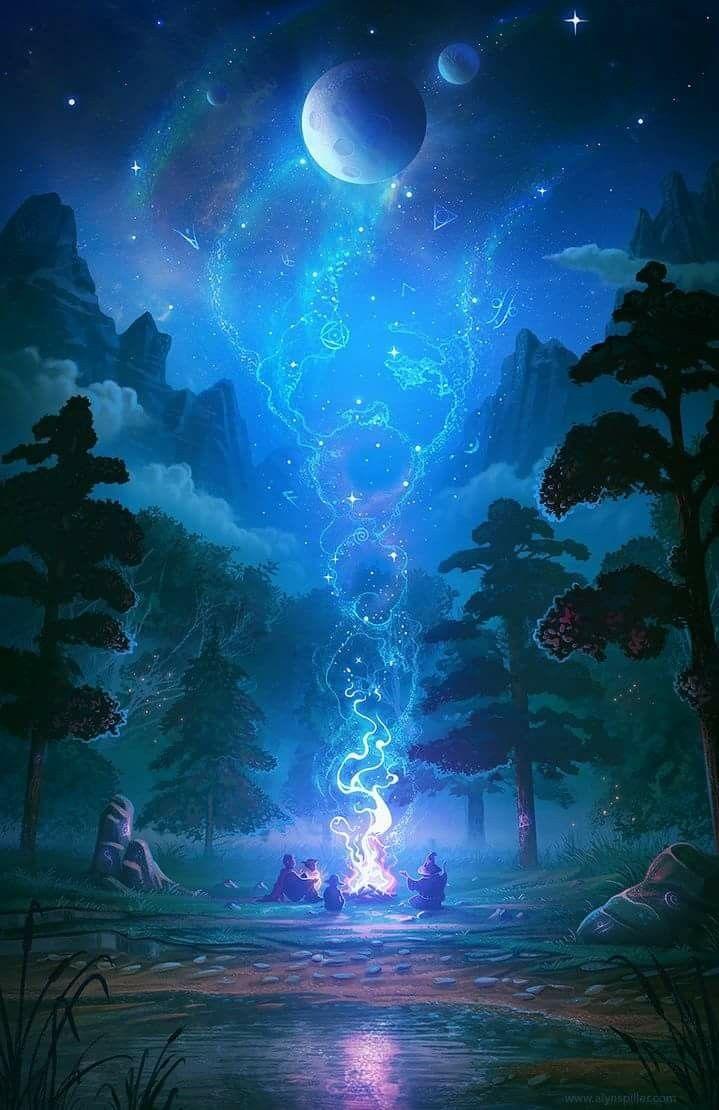 Good Night No Text Fantasy Landscape Anime Scenery Fantasy Artwork