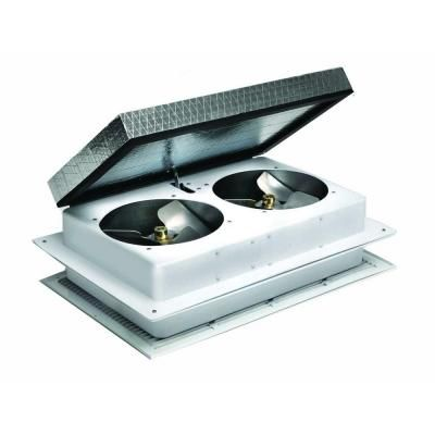 Master Flow 1600 Cfm Tandem Whole House Fan Whftan1 The Home