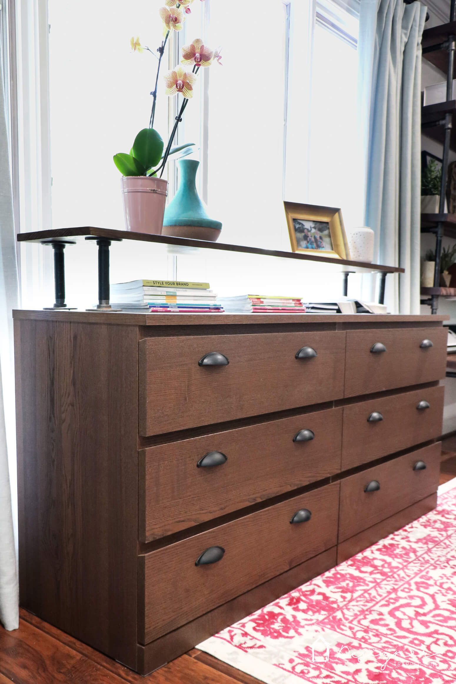 Wow I Can T Believe This Is An Ikea Malm Dresser What A Great Ikea Malm Hack Love The Industrial Dresse In 2020 Ikea Mobel Hacks Ikea Malm Kommode Ikea Kommode Hack