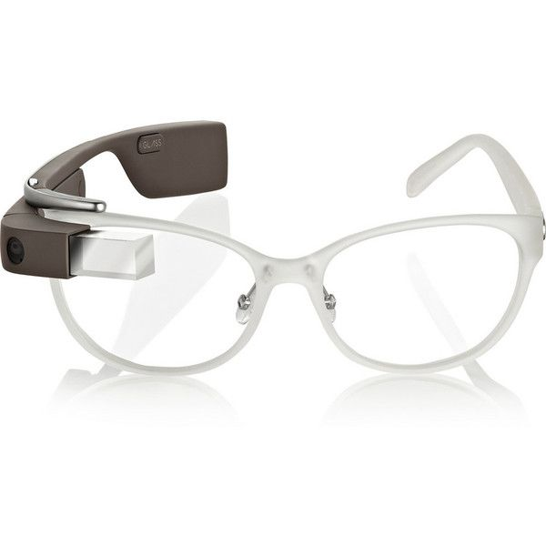 DVF MADE FOR GLASS White frames with green shades ($1,800) ❤ liked ...