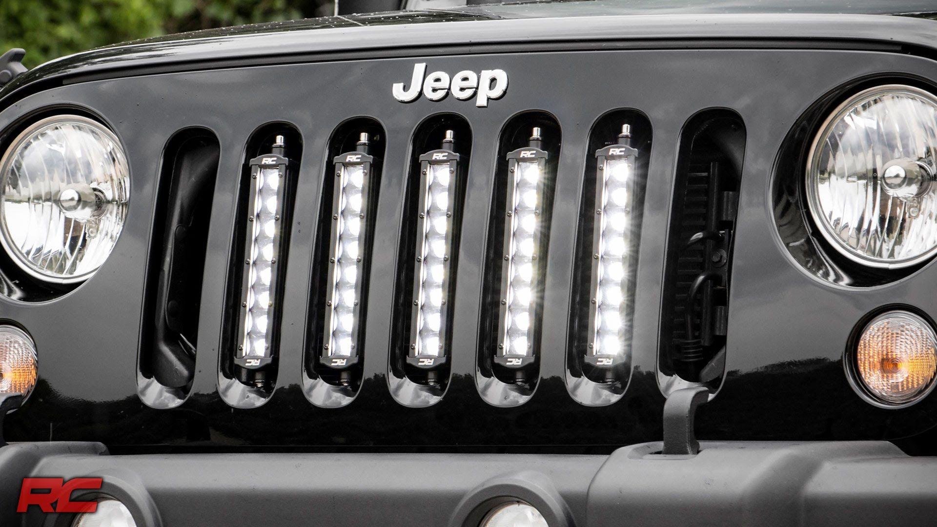 installing 2007 2017 jeep wrangler jk vertical 8 inch led light bar gril  [ 1920 x 1080 Pixel ]