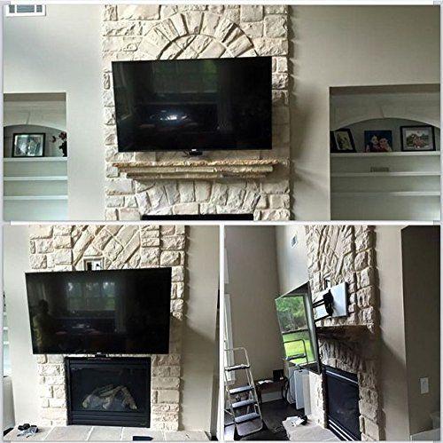 Amazon.com: MantelMount® Pull-Down TV Wall Mount Bracket w/ Full ...