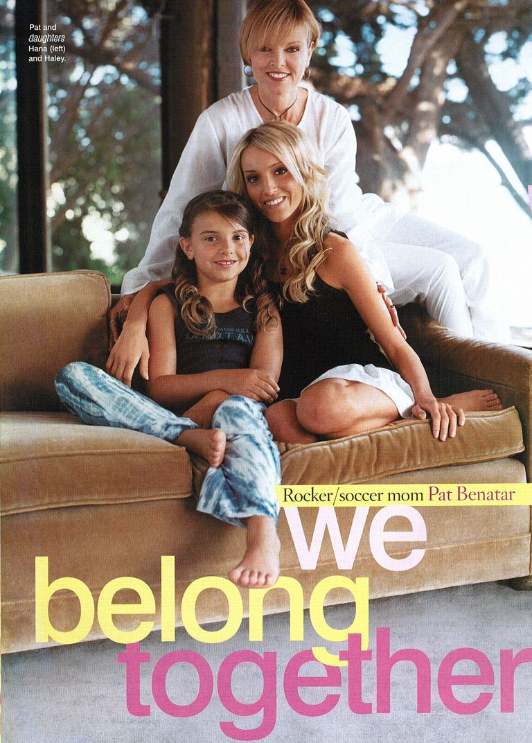 Pat Benatar With Her Daughters Pat On A Front Cover Of A Magazine With Her Daughters In 2003 Pat Benatar Pats Rock And Roll