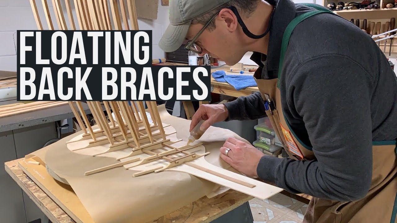 Floating back braces acoustic guitar making trevors