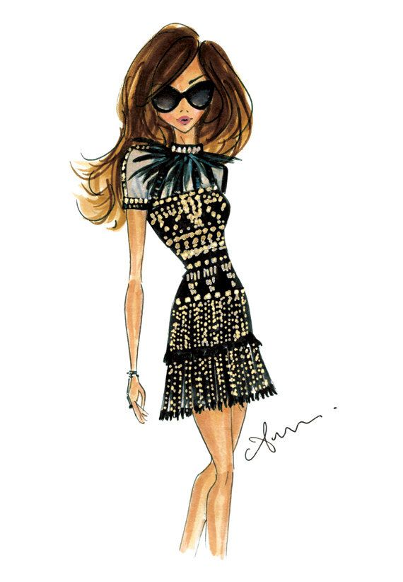fashion illustration print valentino by anumt on etsy art