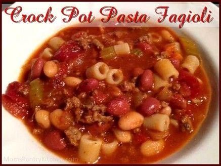Pasta Fagioli http://www.momspantrykitchen.com/pasta-fagioli.html