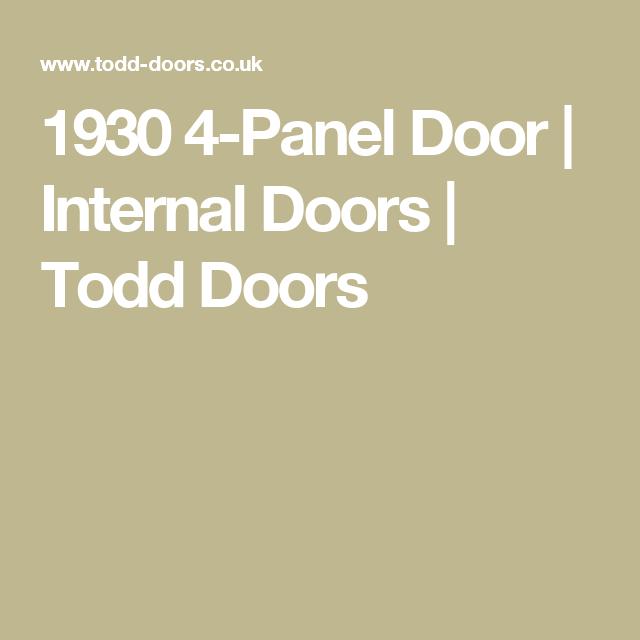 1930 4-Panel Door | Internal Doors | Todd Doors