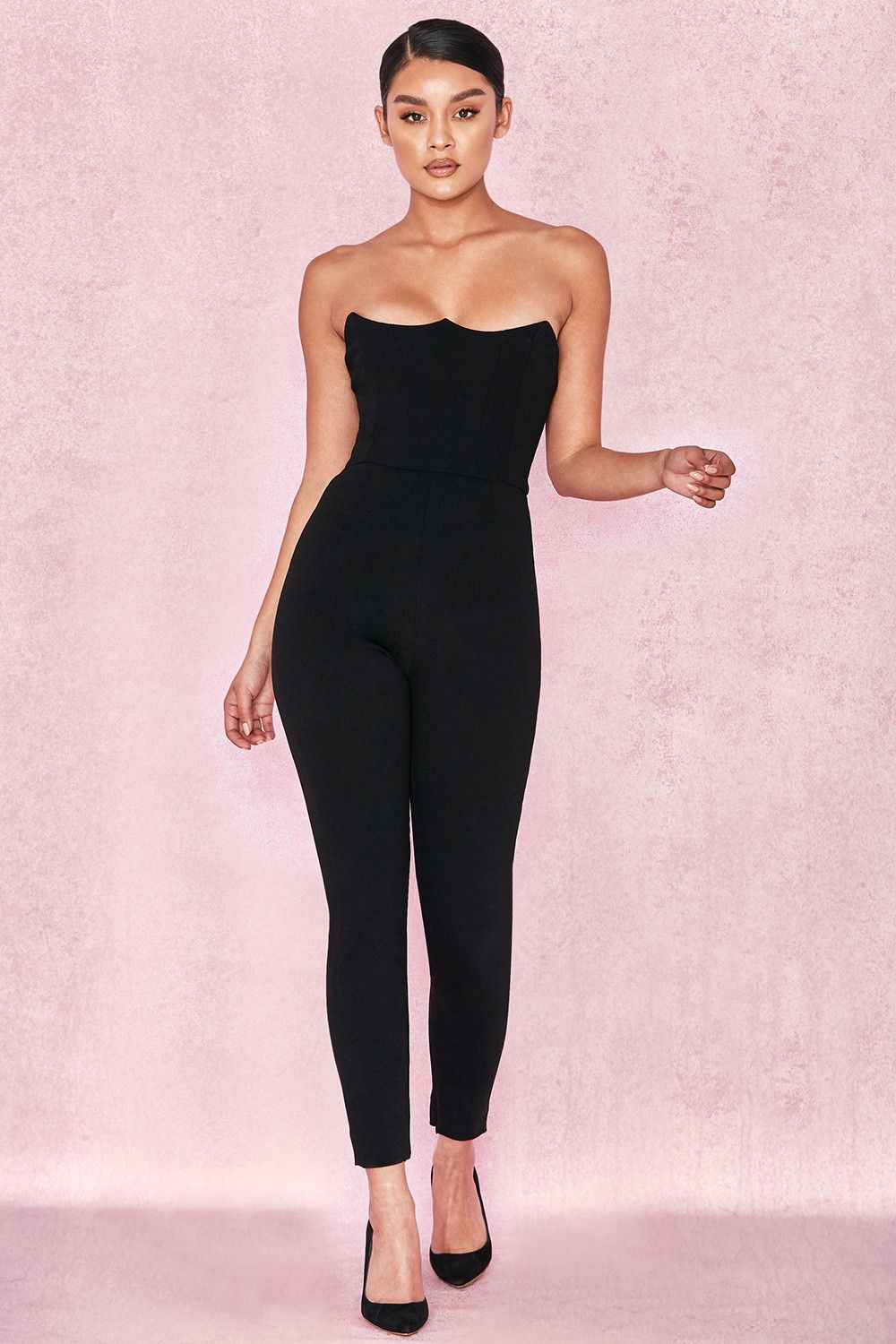 ae80cdcac5a0 Clothing   Jumpsuits    Milli  Black Crepe Corseted Jumpsuit ...