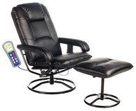 Comfort Products Inc Relaxzen Massage Recliner Chair Black 046854090811 Swivel Recliner Chairs Chair Chair And Ottoman