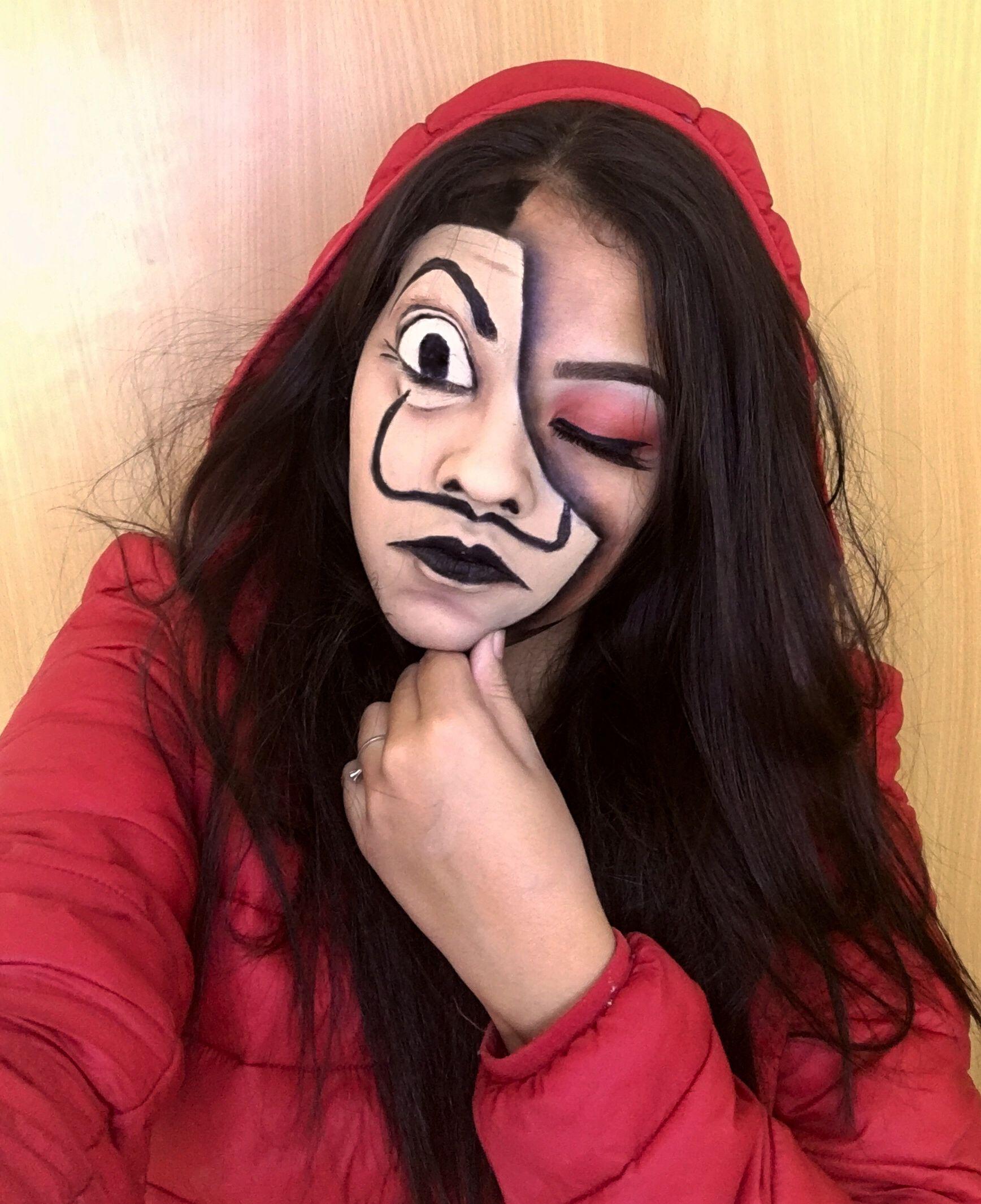 Máscara la casa de papel Ideas de maquillaje de