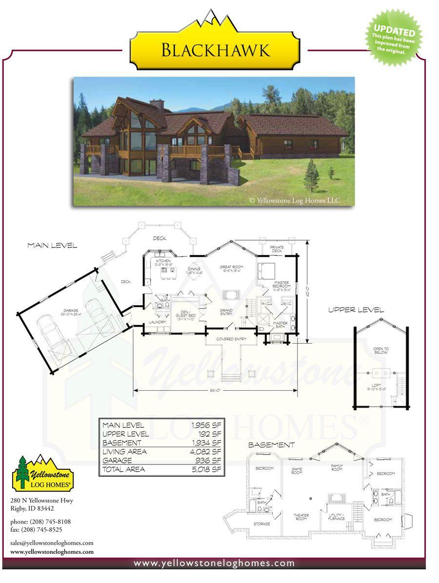 Yellowstone log homes blackhawk plan the cabin pinterest