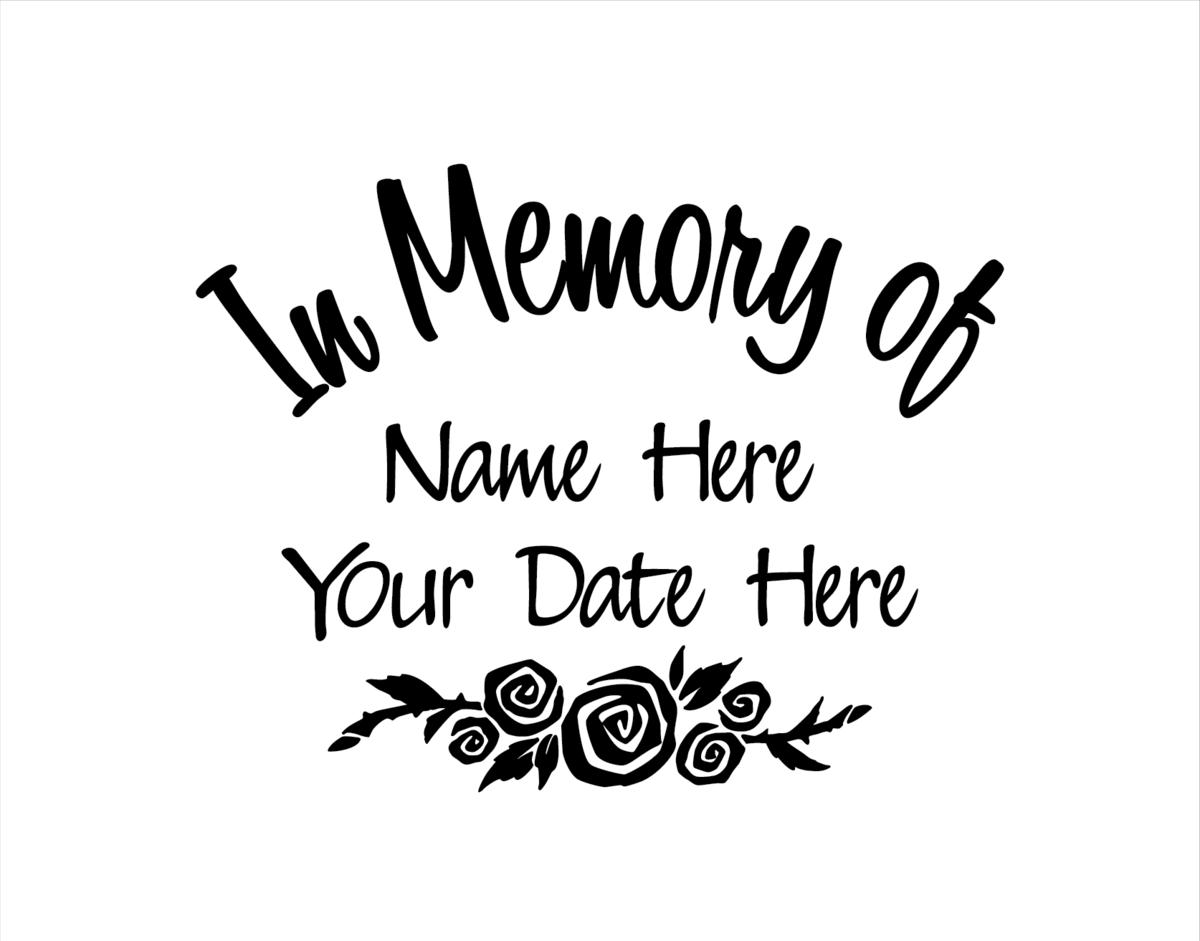 In Memory Of Decal With Roses Loving Memory Car Decals Memories In Loving Memory
