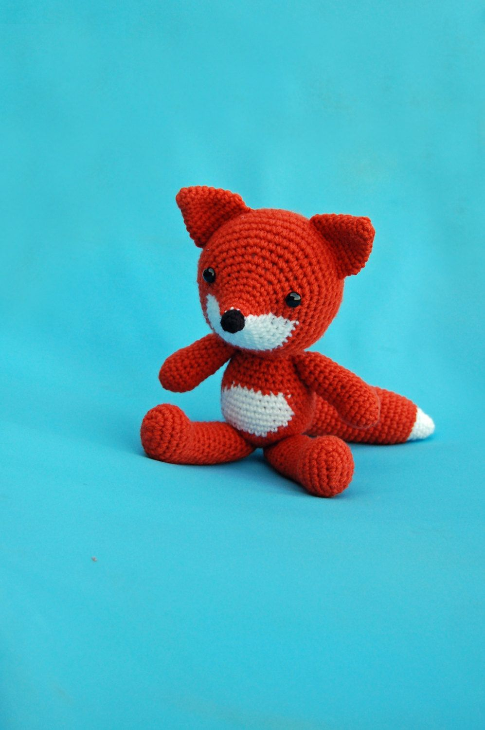 Fox Stuffed Animal Amigurumi Toy - made to order by TheStrandedBrandCo on Etsy