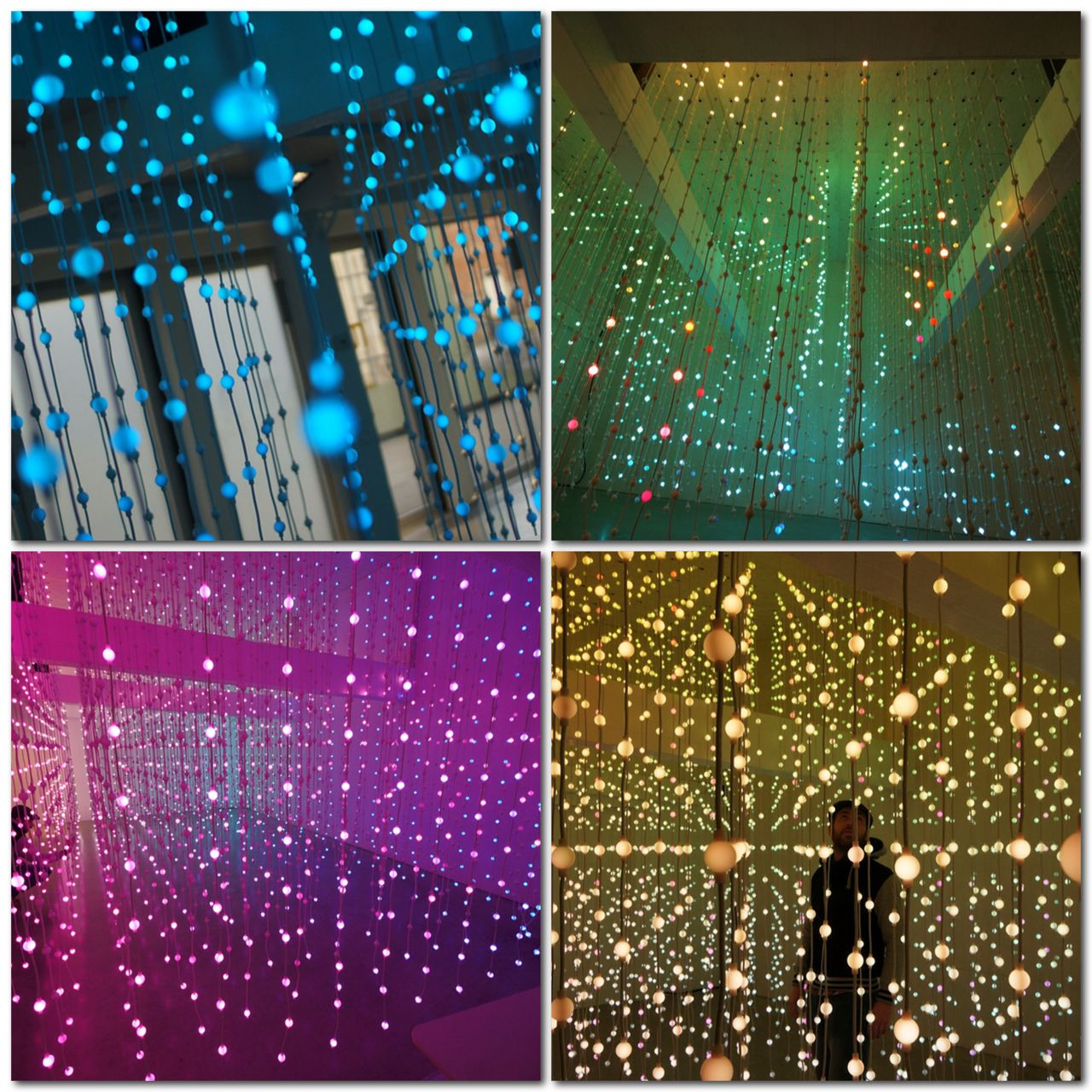 A project by digital arts collective Squidsoup. 8,064 points of light suspended in a physical walkthrough space