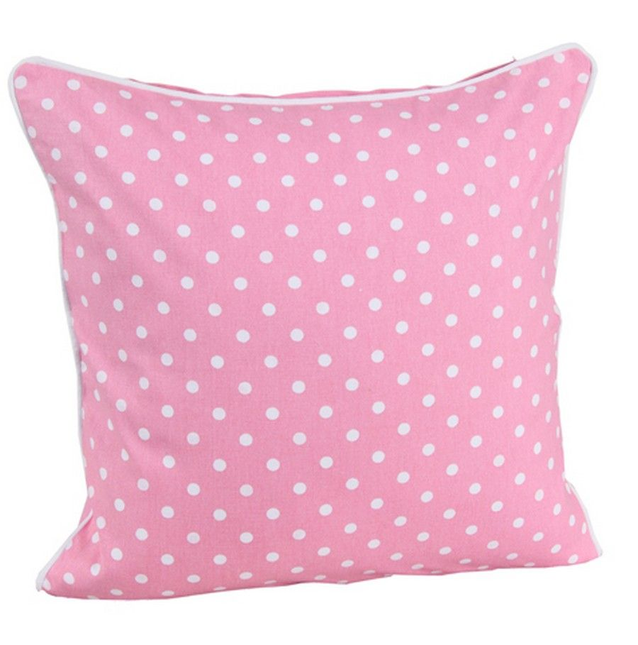 Pink_white_polka_dots_filled_cushion