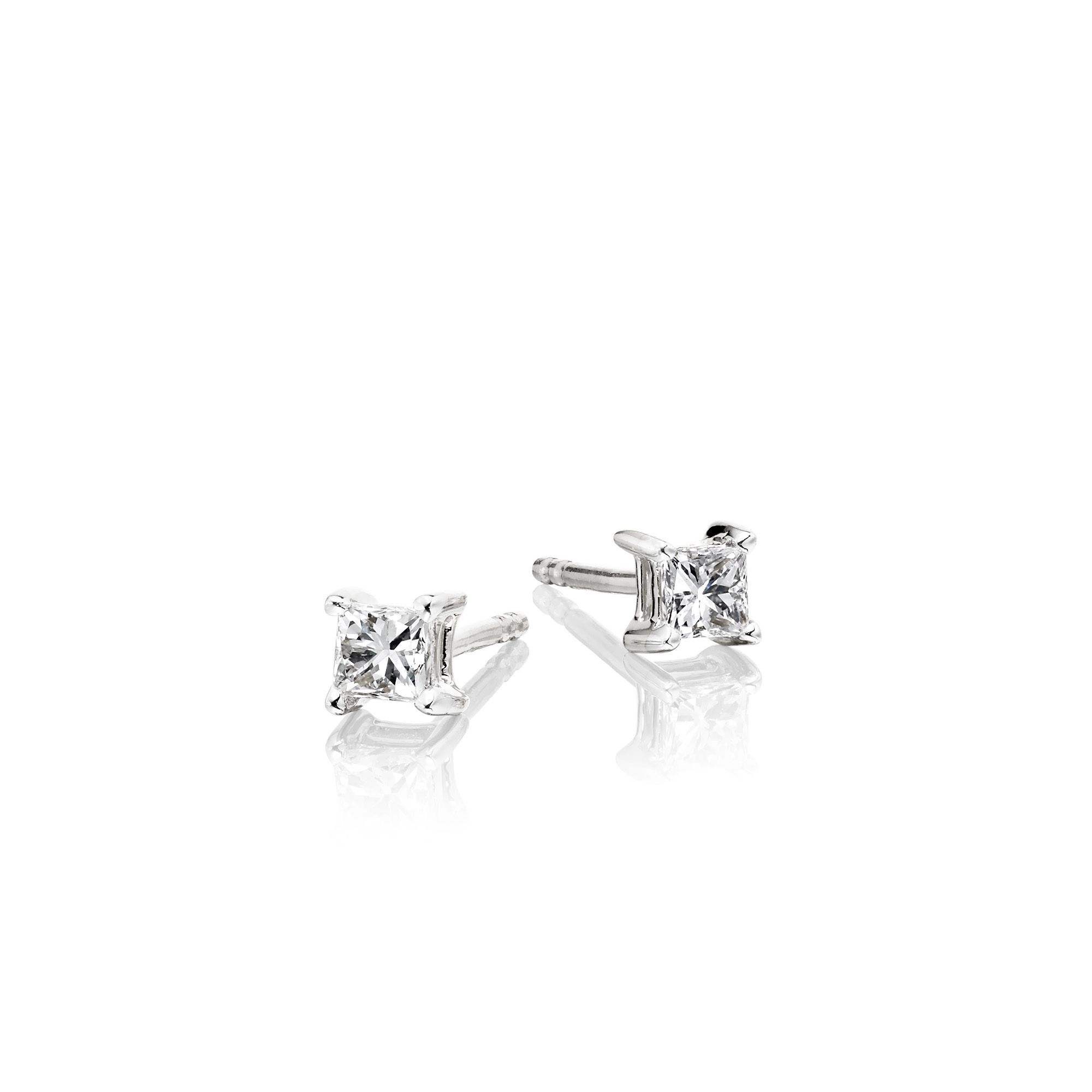 dsc products ctw solitaire detailed diamond earrings ways milgrain