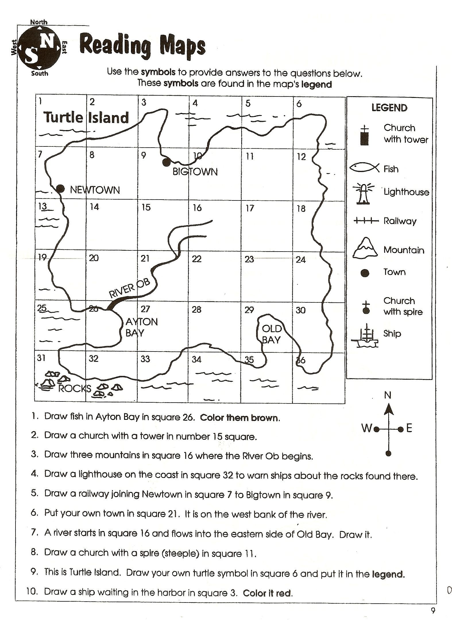 medium resolution of 3rd Grade Geography Worksheets