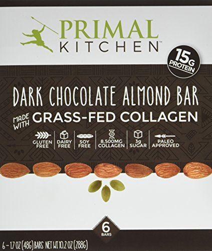 Primal Kitchen Dark Chocolate Almond Collagen Protein Bars 1 7 Ounce Pack Of 6 Gluten Free Pale Collagen Protein Bars Dark Chocolate Almonds Primal Kitchen
