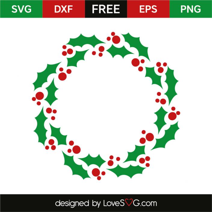 Wreath mistletoe leaf Christmas stencils, Christmas svg