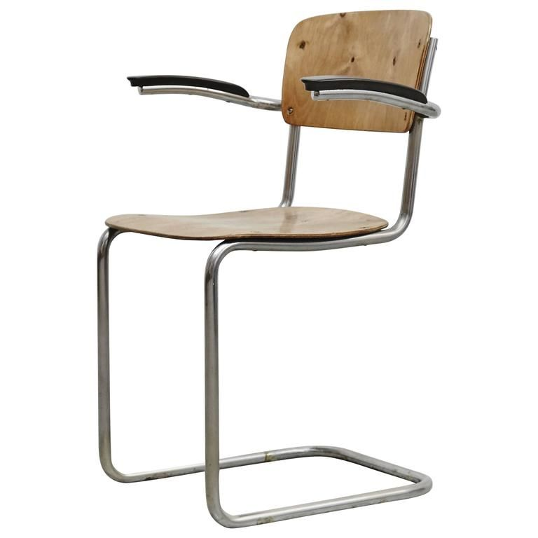 1stdibs Metal, Wood Circa 1930 Bauhaus Dutch Chair