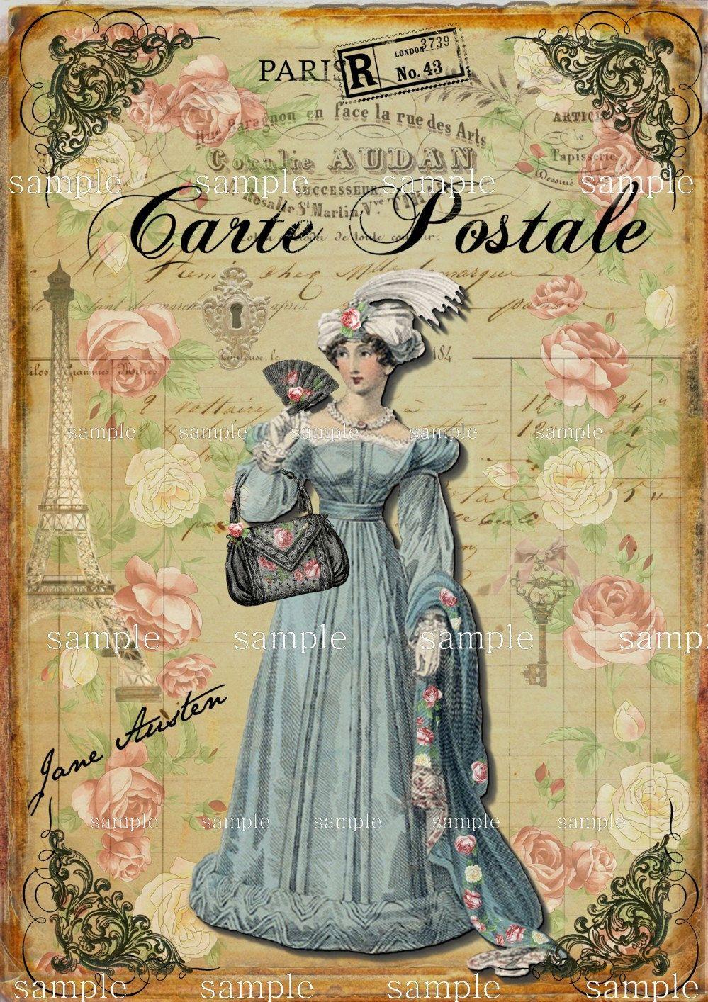 Jane Austen Postale - Collage Sheet Printable