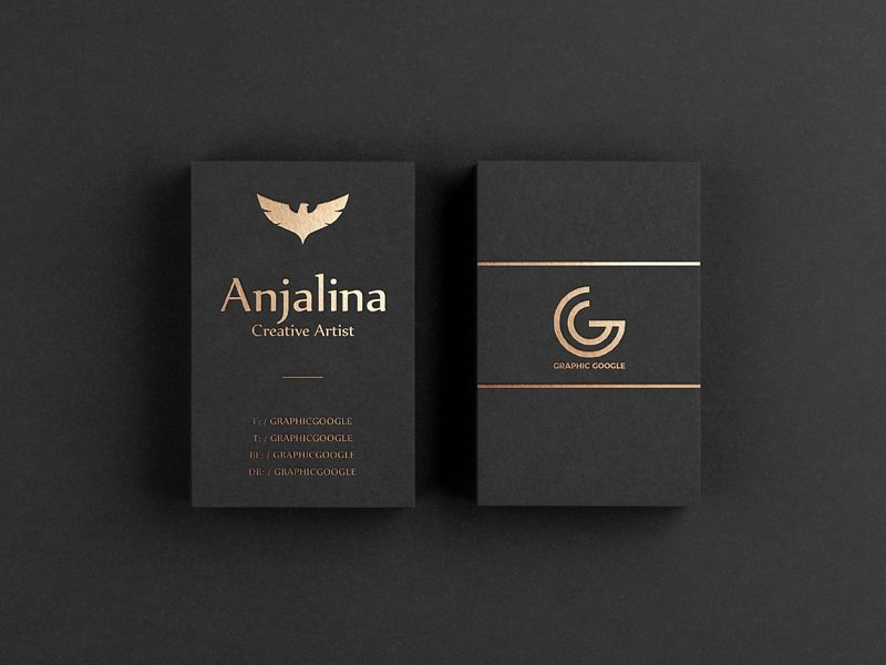 Free Gold Foil Business Card Mockup Business Card Mock Up Foil Business Cards Gold Foil Business Cards